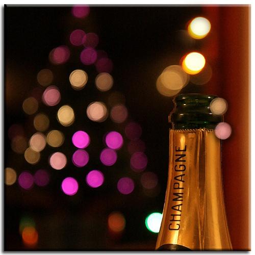 Картичка с шампанско